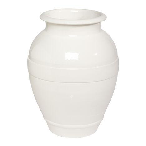 Ivory Ringed Vase ,  , large