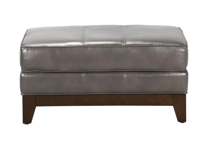 Arcata Leather Ottoman, Quick Ship ,  , large_gray