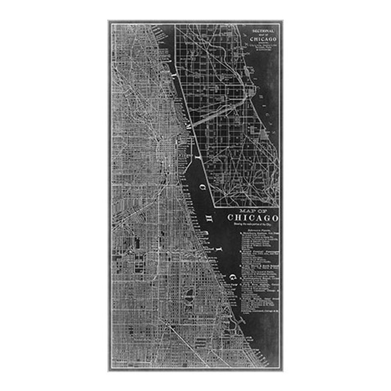 Chicago Map Black