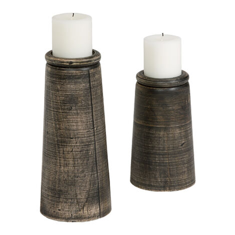 Dillon Black Candleholders ,  , large