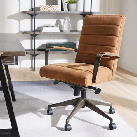 Slater Leather Channel-Back Desk Chair Product Tile Hover Image 722248
