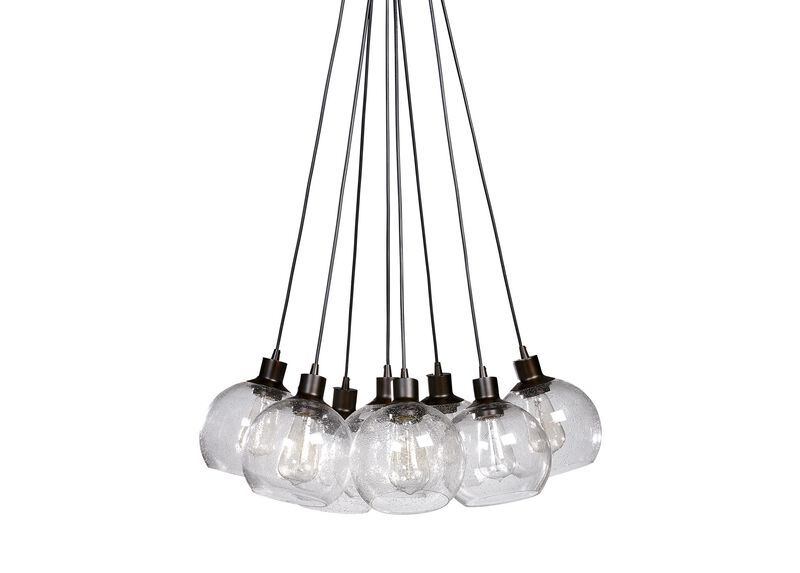 Seeded Glass Bunch Chandelier ,  , large_gray