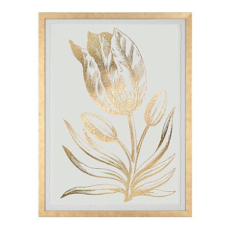 Gold Foil Floral I Product Tile Image 073759A