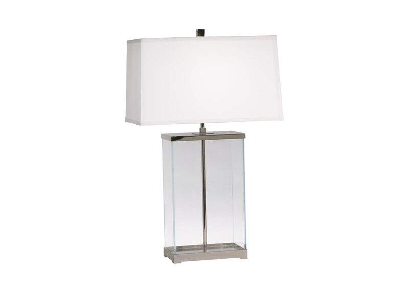 Rectangular Glass Table Lamp