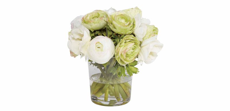 Ranunculus & Poppies in Vase