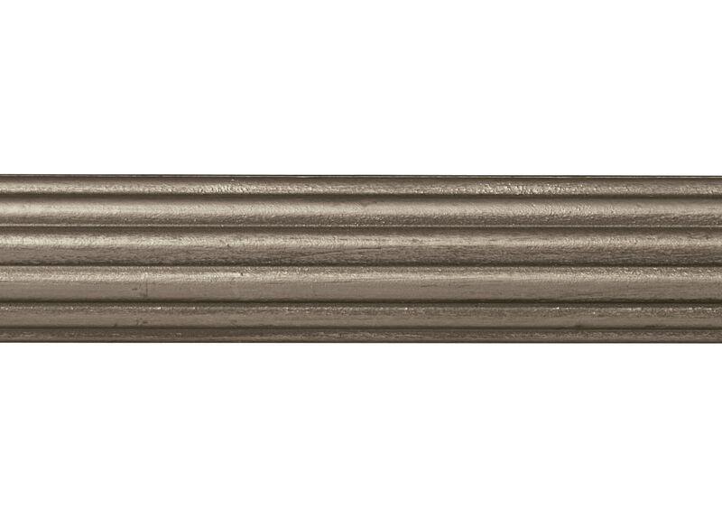 "1 3/8"" Fluted Wood Pole, Platinum ,  , large_gray"