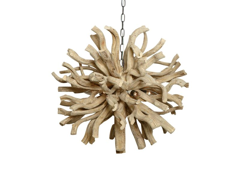 Large Minetto Wood Chandelier