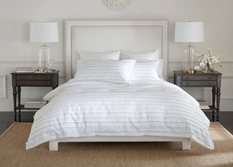 Pleated Duvet Cover and Sham