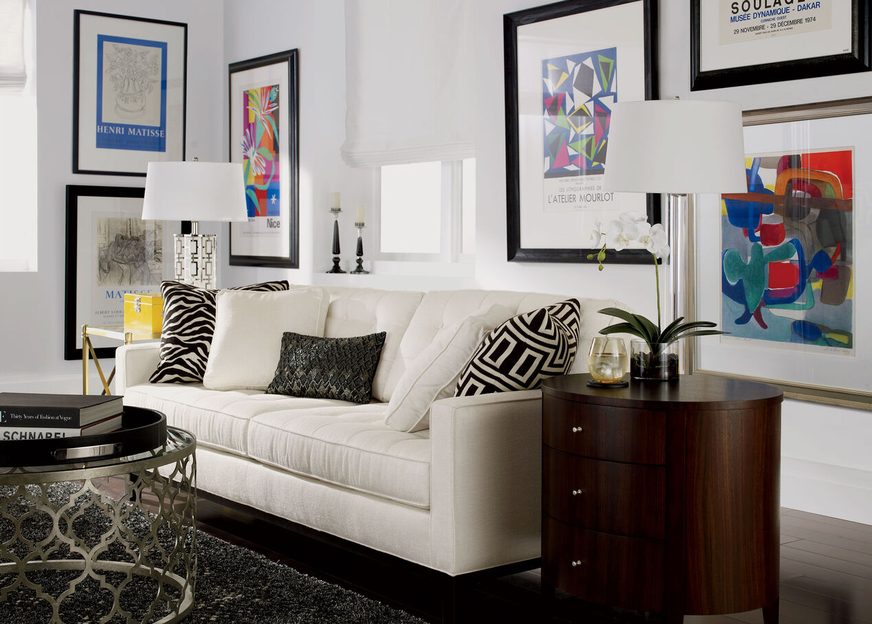 Glass cylinder floor lamp floor lamps ethan allen null null ethan allen mozeypictures Choice Image