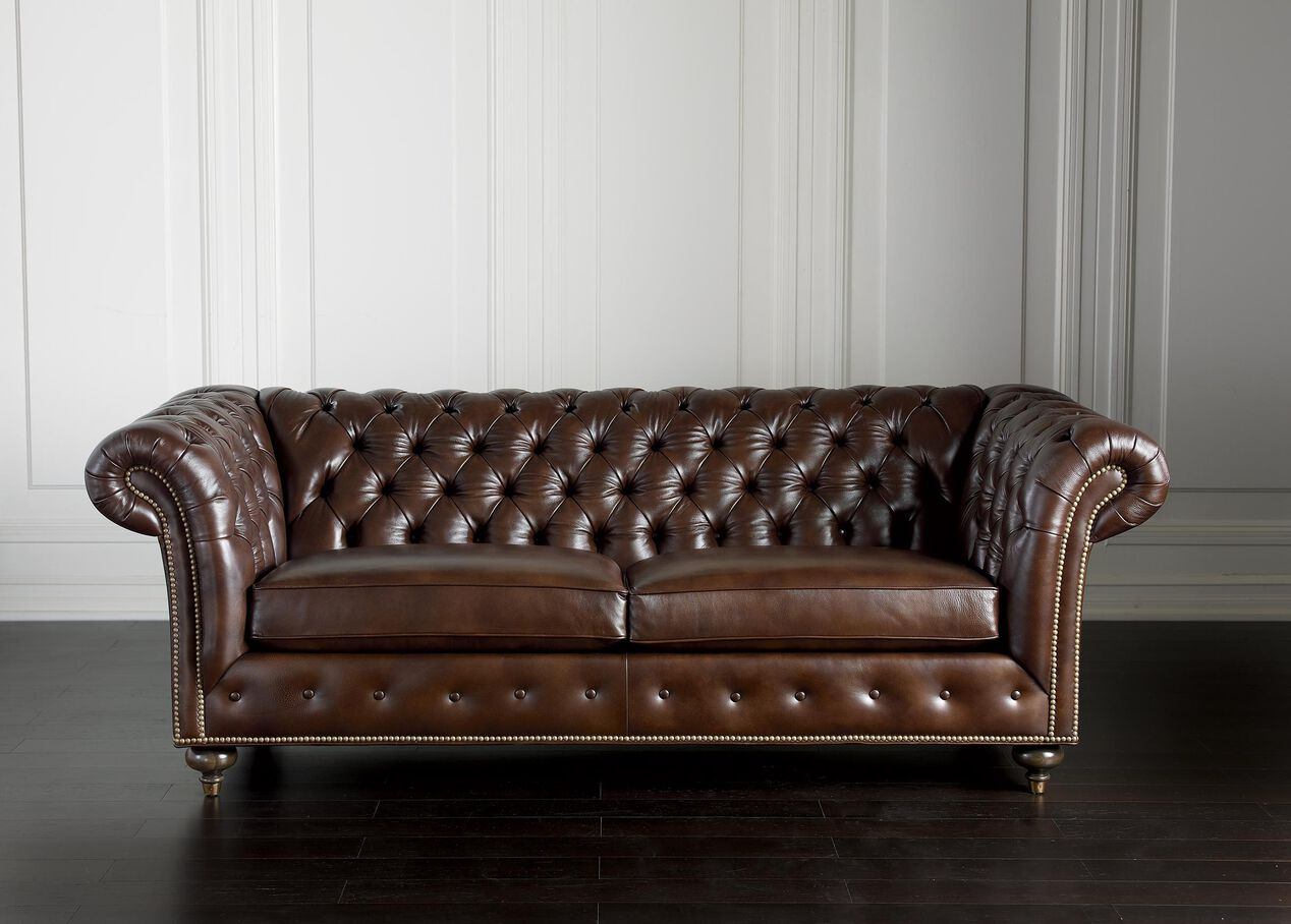 Mansfield Leather Sofa, Quick Ship | Sofas & Loveseats | Ethan Allen