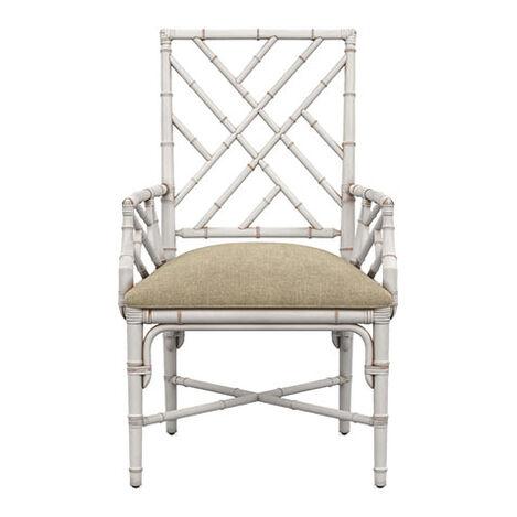 Lian Armchair, Milk White Product Tile Image 136300ACLR
