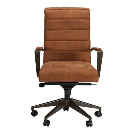 Slater Leather Channel-Back Desk Chair Product Tile Image 722248