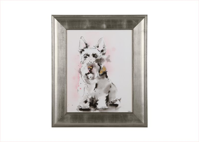 Glamour Dog Sketch V, Silver ,  , large_gray