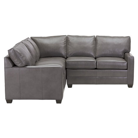 Bennett Track-Arm Leather Three Piece Sectional, Quick Ship ,  , large