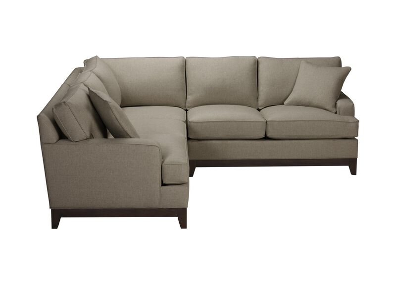 Arcata Three Piece Sectional, Quick Ship , Palmer Fog (Q3055), chenille , large_gray