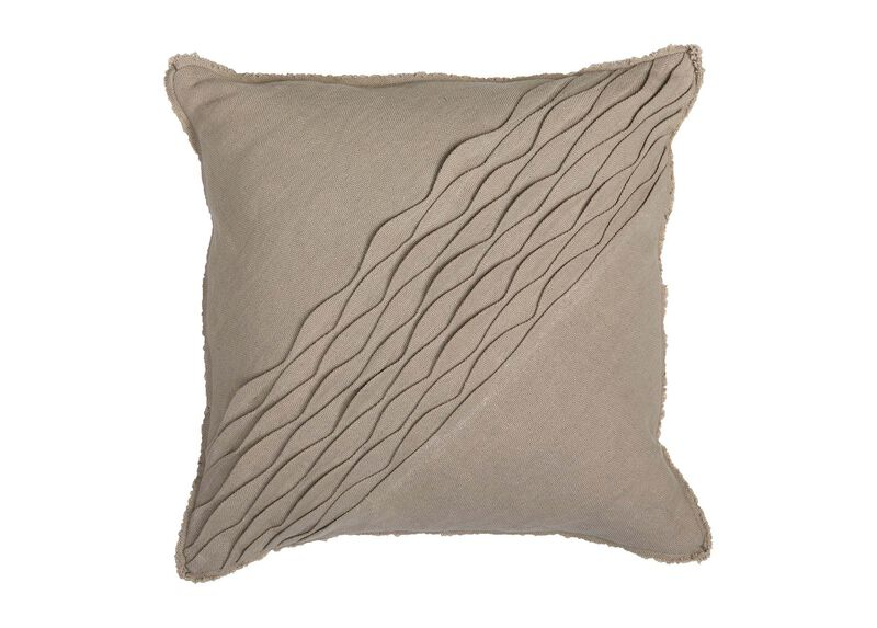 Diagonal Pleated Pillow