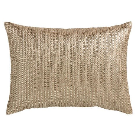 Sequined Pillow, Taupe Product Tile Image 065686   TAU