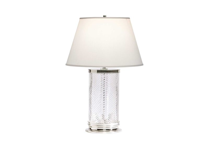 Herringbone Glass Table Lamp