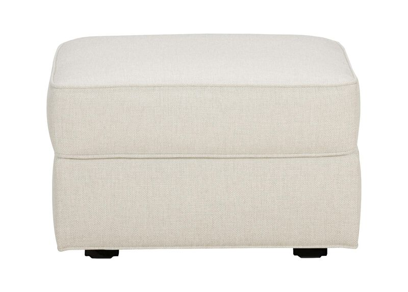 Retreat Ottoman, Quick Ship , Hailey Ivory (Q1032), solid texture , large_gray