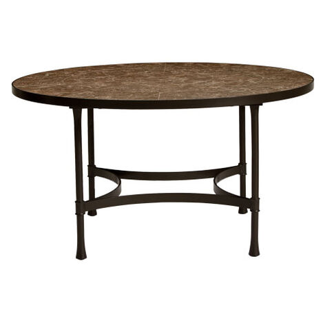 Biscayne Round Dining Table with Dark Porcelain Top ,  , large