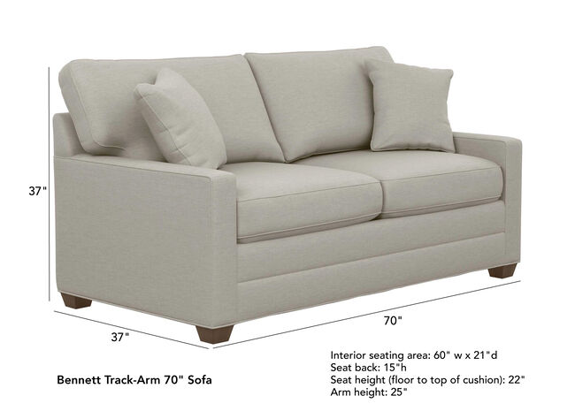 Bennett Track Arm Sofas Quick Ship