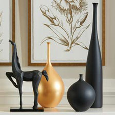 Issa Tall Black Vase ,  , hover_image