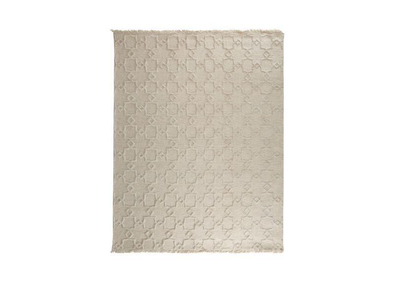 Lattice Soumak Rug, Natural