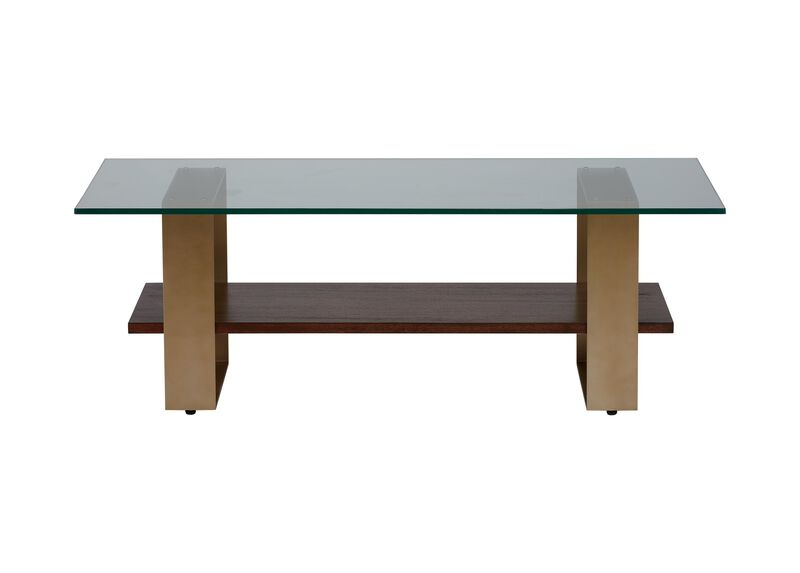 Rosemoor Rectangular Glass-Top Coffee Table