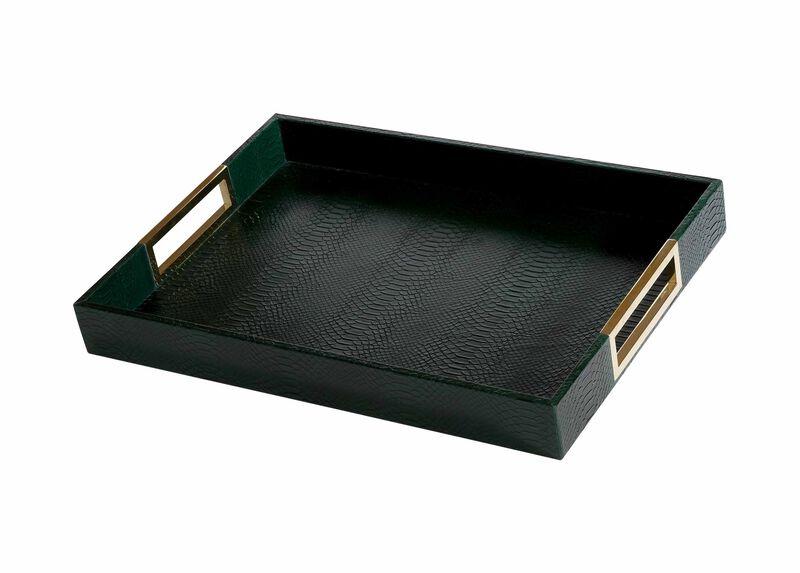 Emerald Snakeskin Tray