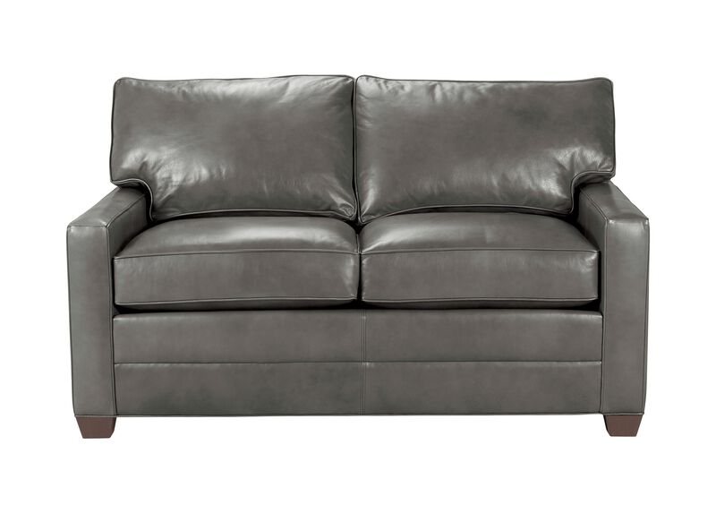 Bennett Track-Arm Leather Sofa, Quick Ship ,  , large_gray