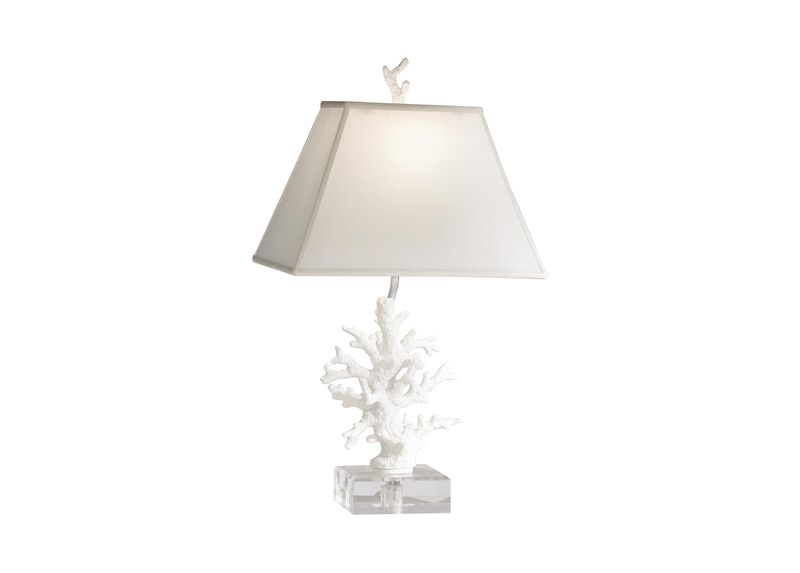 Images faux coral accent lamp large gray