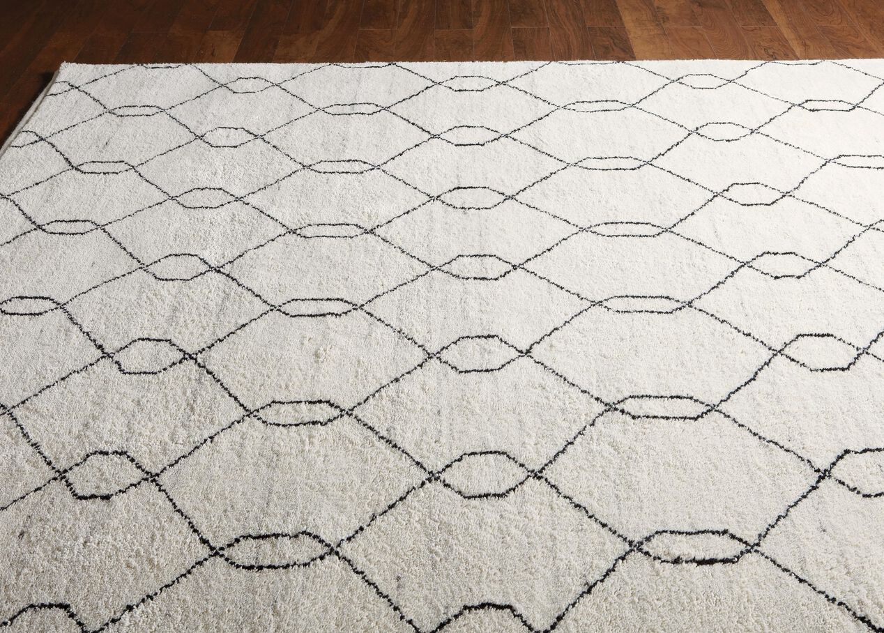 tulu trellis rug natural black geometric striped rugs