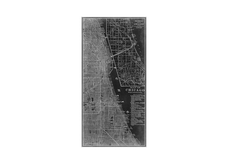 Chicago Map Black