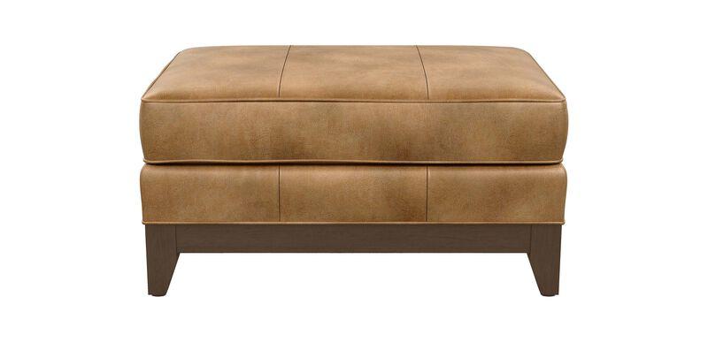 Arcata Leather Ottoman