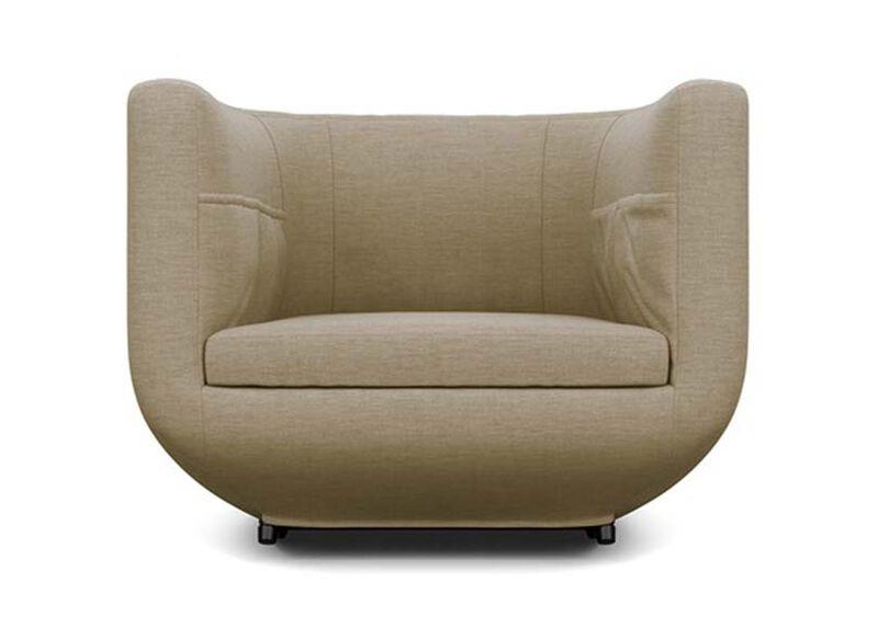 Having a Ball Chair , Zest Linen (D1031), strie texture , large_gray