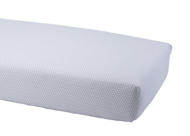Dotty Crib Sheet, Mouse Grey