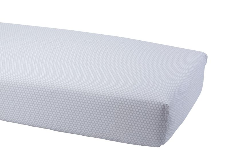 Dotty Crib Sheet, Mouse Grey