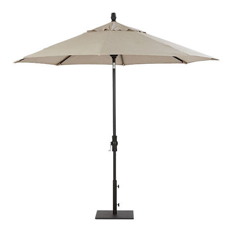 9' Single Vent Taupe Umbrella ,  , large