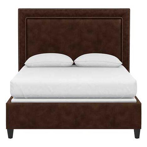 Jensen Leather Platform Bed Product Tile Image 72748G2