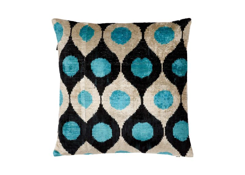 Silk Velvet Pillow, Turquoise ,  , large_gray