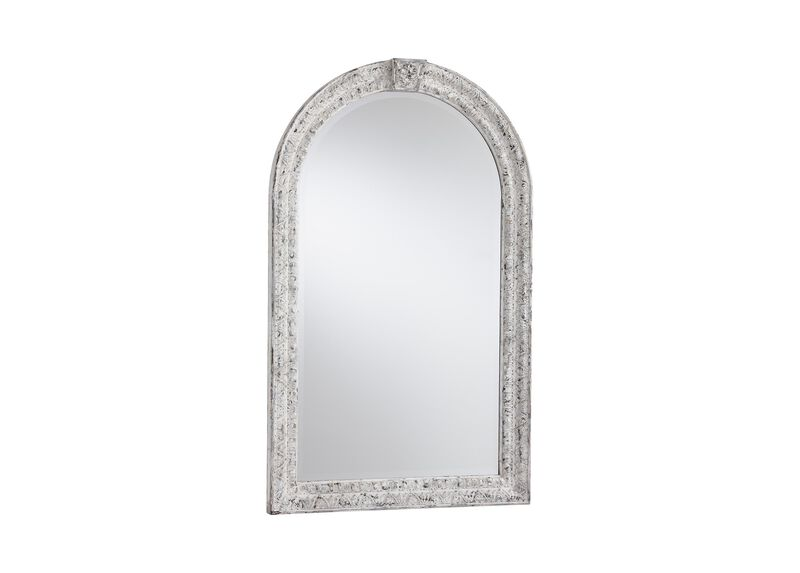 Antique White Arched Mirror