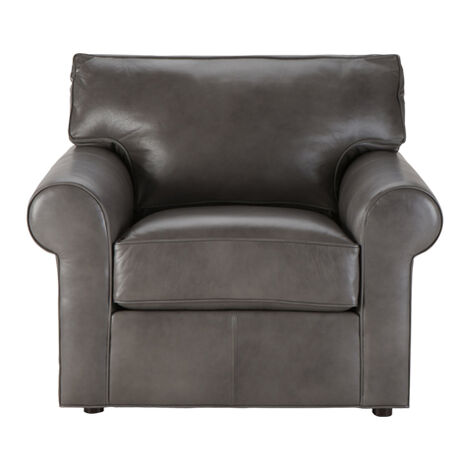 Retreat Roll-Arm Leather Chair, Quick Ship ,  , large