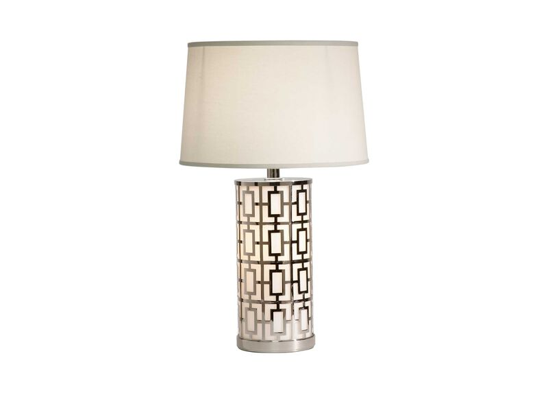 Geo Symmetric Table Lamp ,  , large_gray