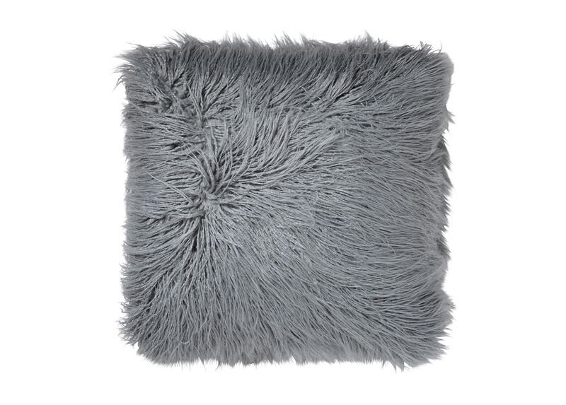 Faux Fur Pillow, Mineral | Tuggl