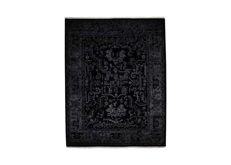 Heriz Deconstructed Rug, Charcoal