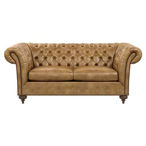 Mansfield Leather Small Scale Sofa