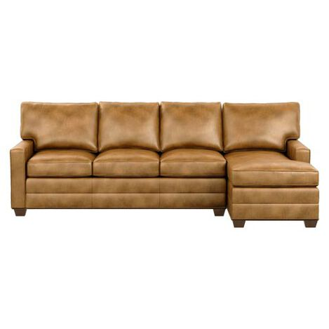 Bennett Track-Arm Two-Piece Leather Sectional with Chaise Product Tile Image 727123G1