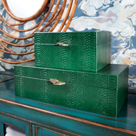 Emerald Snakeskin Box ,  , hover_image