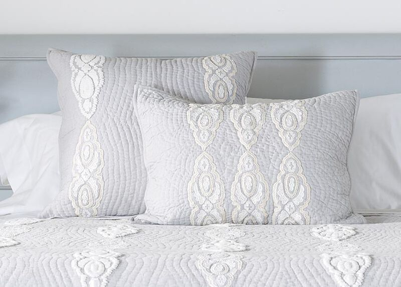 Giorgina Embroidered Sham ,  , large_gray