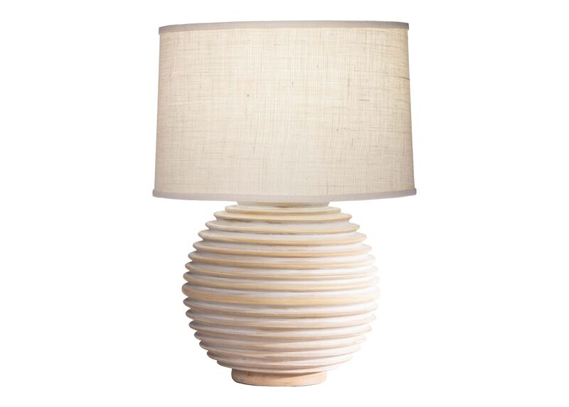 Crosby Wooden Table Lamp ,  , large_gray